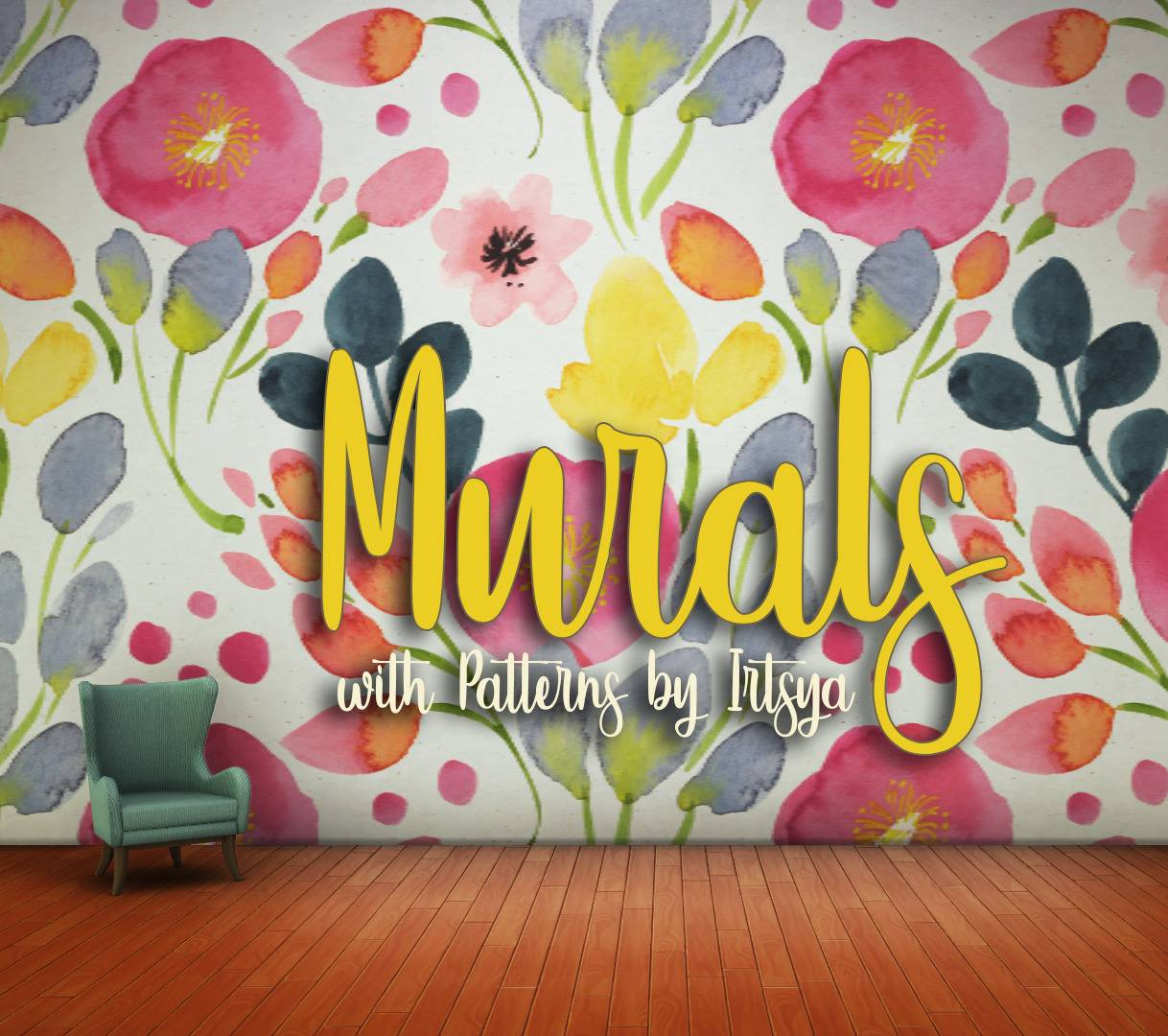 Настенное покрытие - Floral Murals