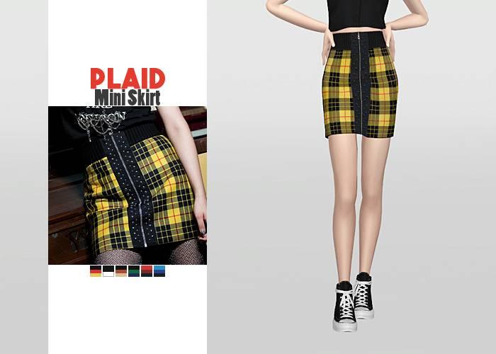 Юбка - Plaid Mini Skirt