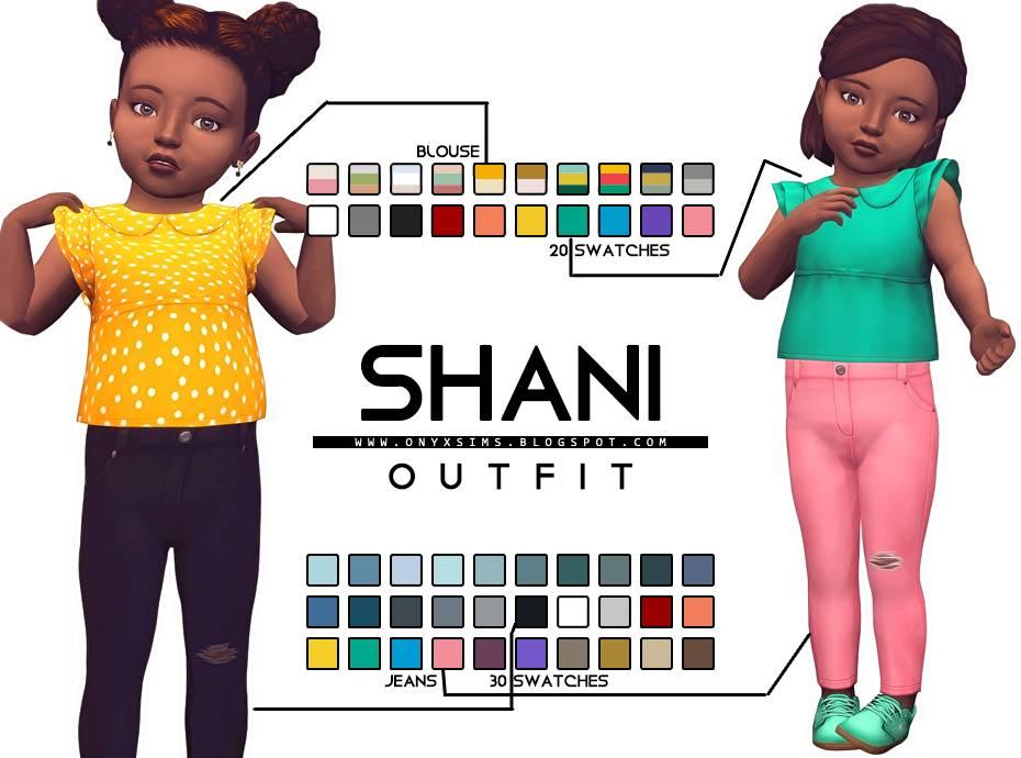 Блузка и джинсы - TODDLER SHANI SET