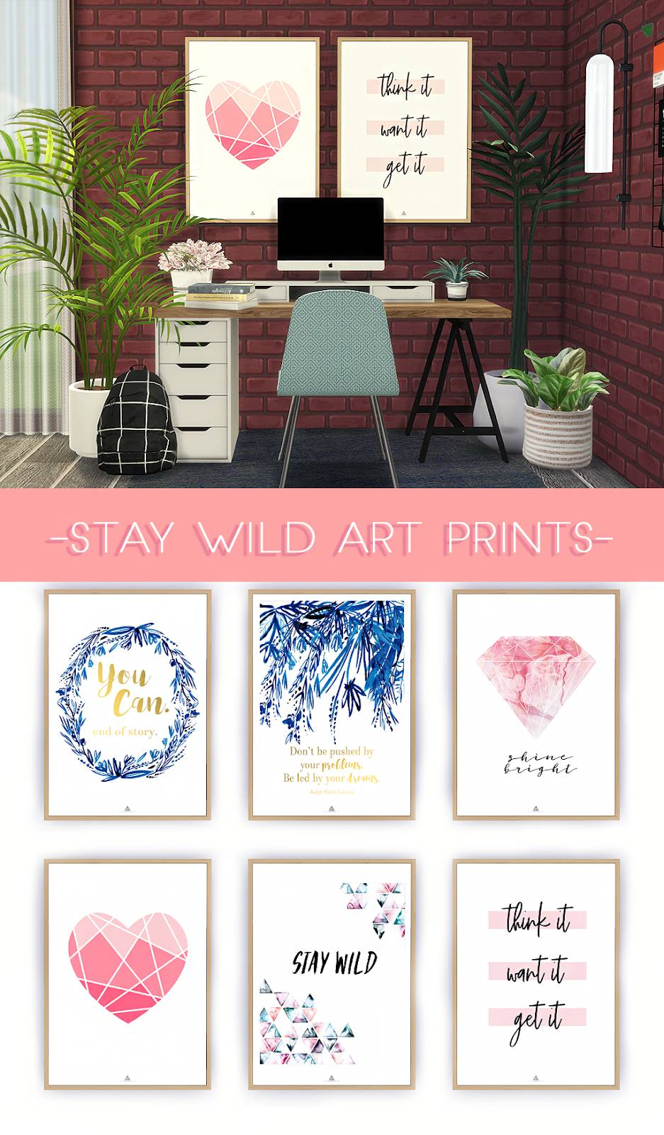 Набор картин - STAY WILD ART PRINTS
