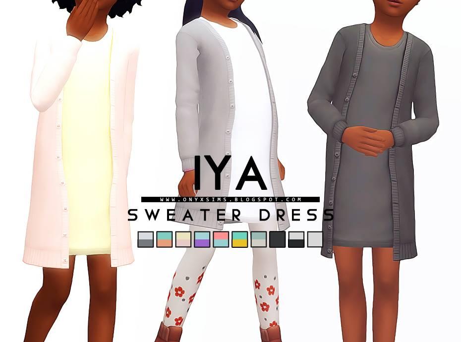 Платье и кардиган - IYA SWEATER DRESS