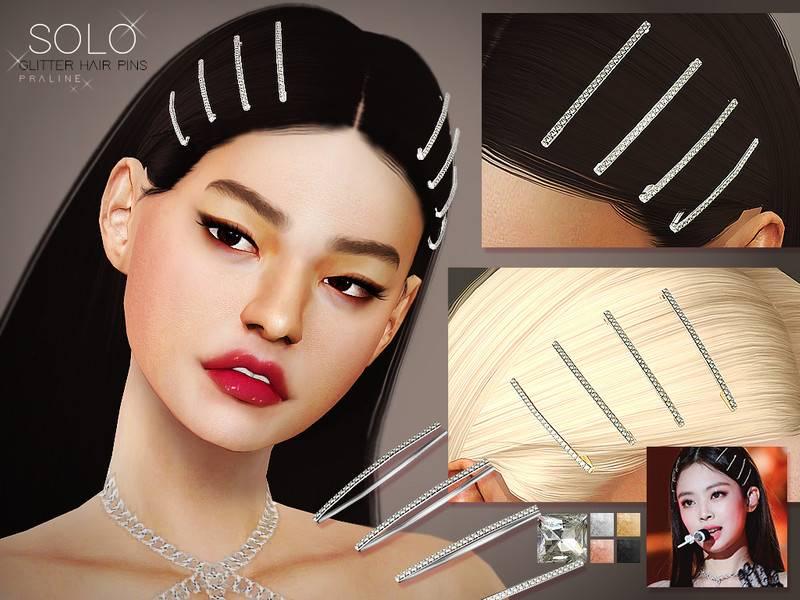 Заколки для волос - Solo Glitter Hairpins