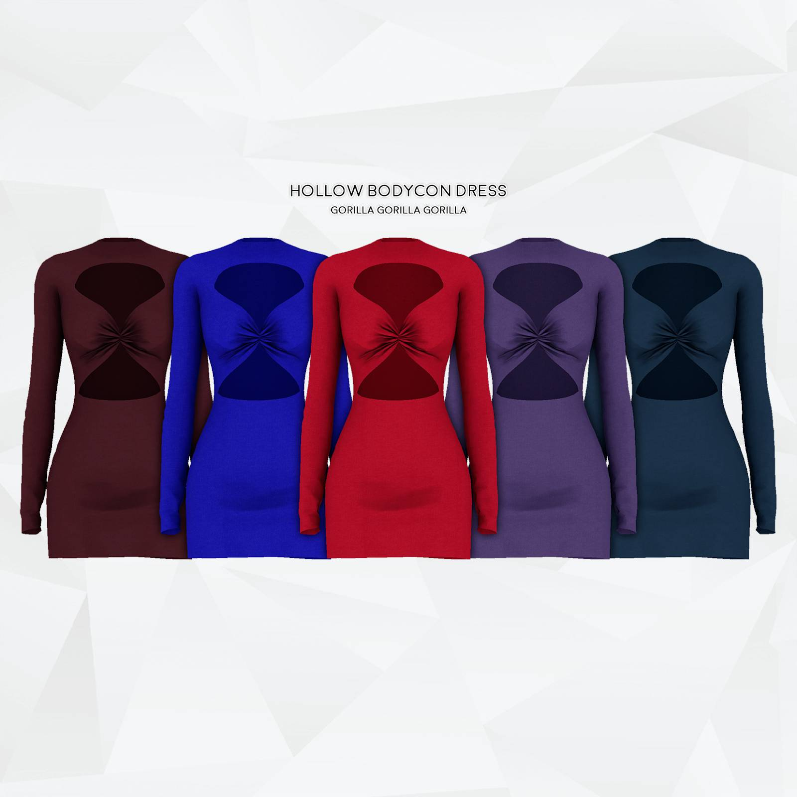 Платье - Hollow Bodycon Dress