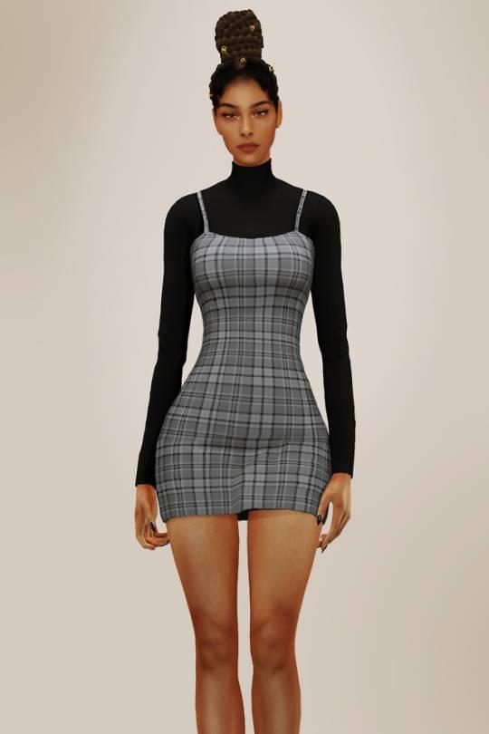 Платье и водолазка - Turtleneck and Short Dress