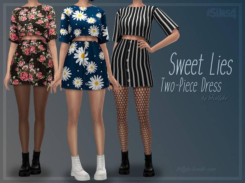 Топ и юбка - Sweet Lies Two-Piece Dress