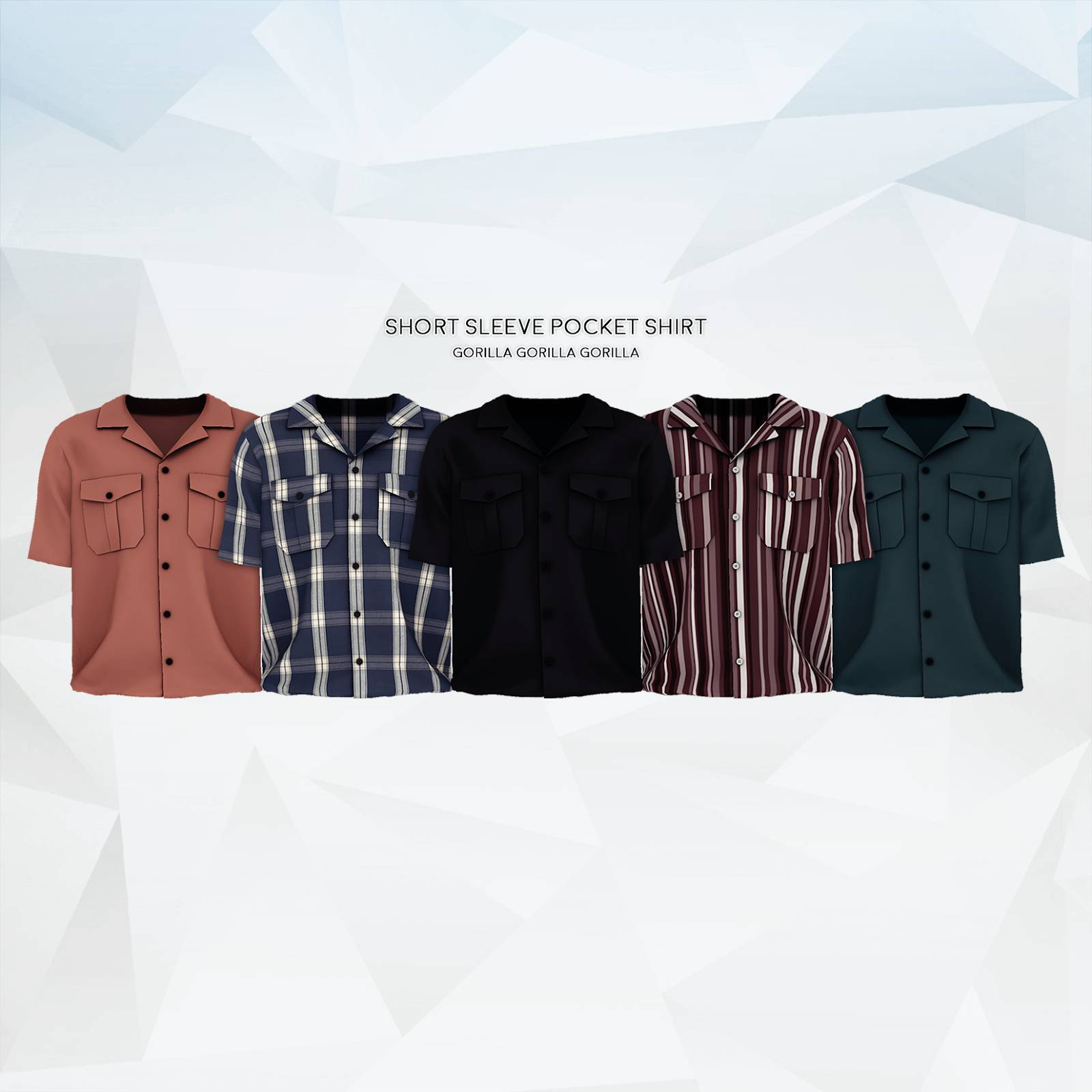 Рубашка - Short Sleeve Pocket Shirt
