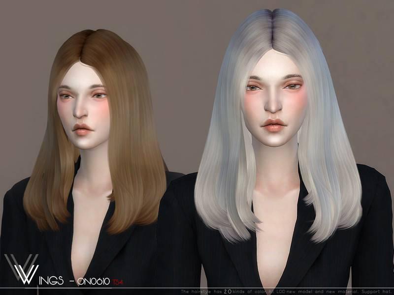 Женская прическа - WINGS ON0610