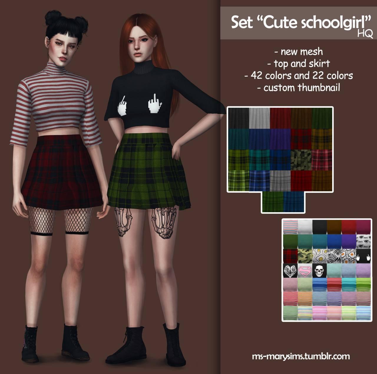 Топ и юбка - Cute schoolgirl