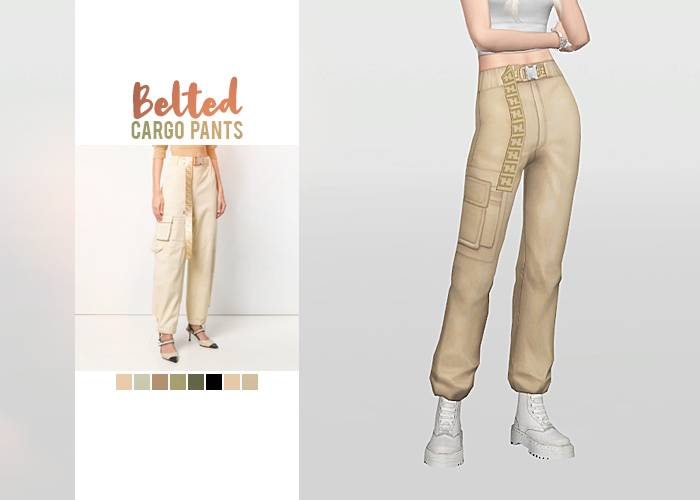 Штаны - Belted Cargo Pants