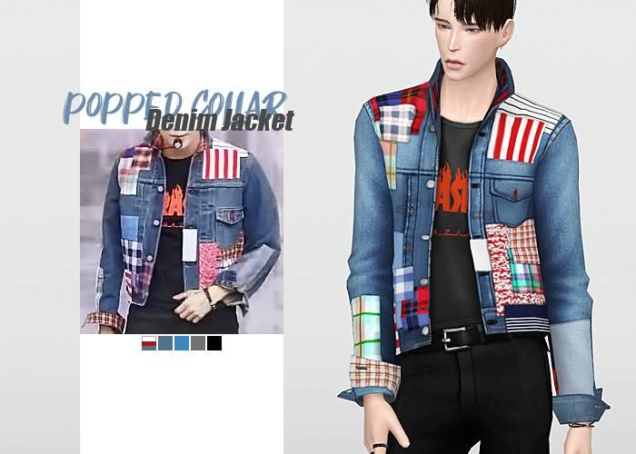 Куртка и футболка - Popped Collar Denim Jacket