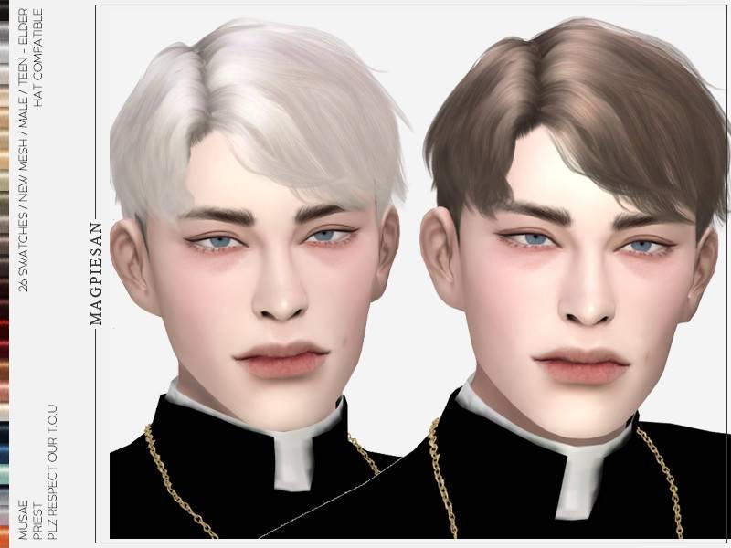 Мужская прическа - Priest Hair