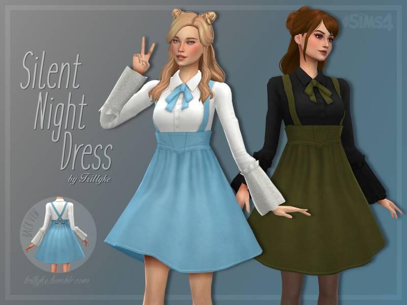 Блузка и платье - Silent Night Dress