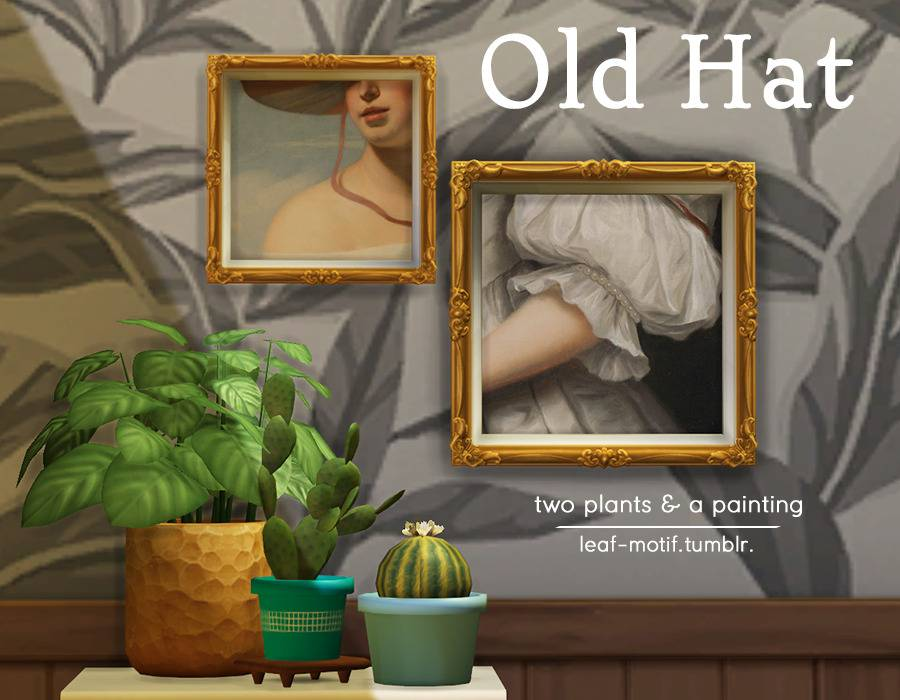Картина и домашние растения - Old Hat