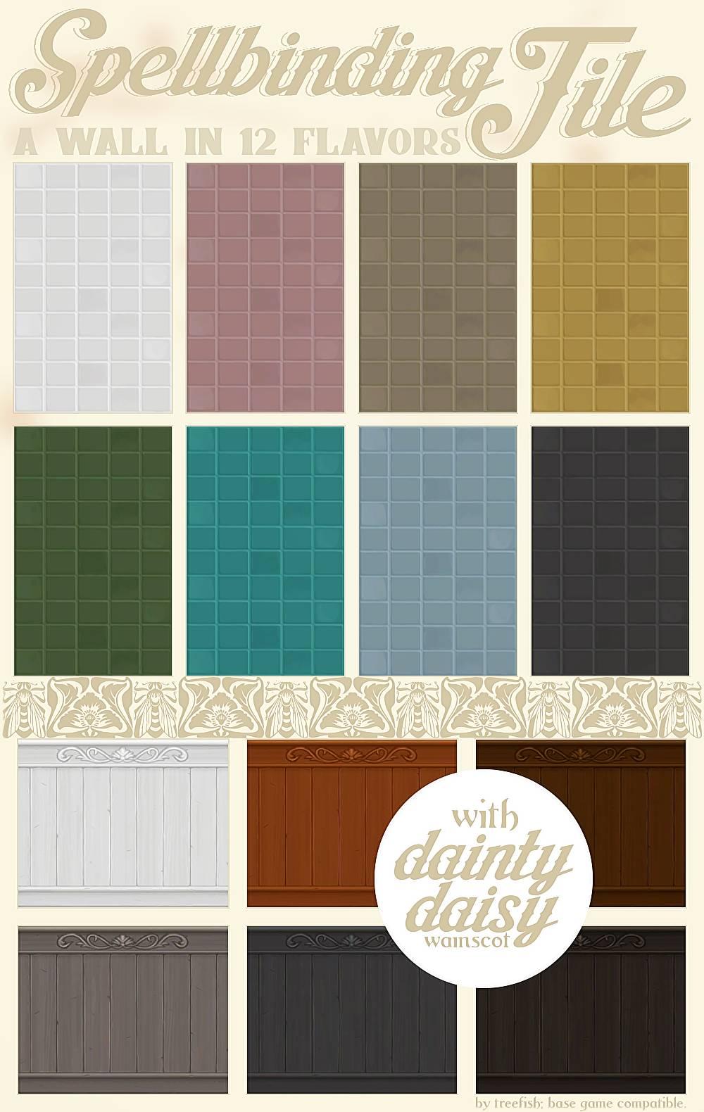 Настенная плитка и деревянные панели - Spellbinding Tile with Dainty Daisy Wainscot
