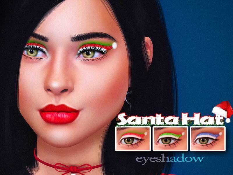 Макияж глаз - Santa Hat Eyeshadow
