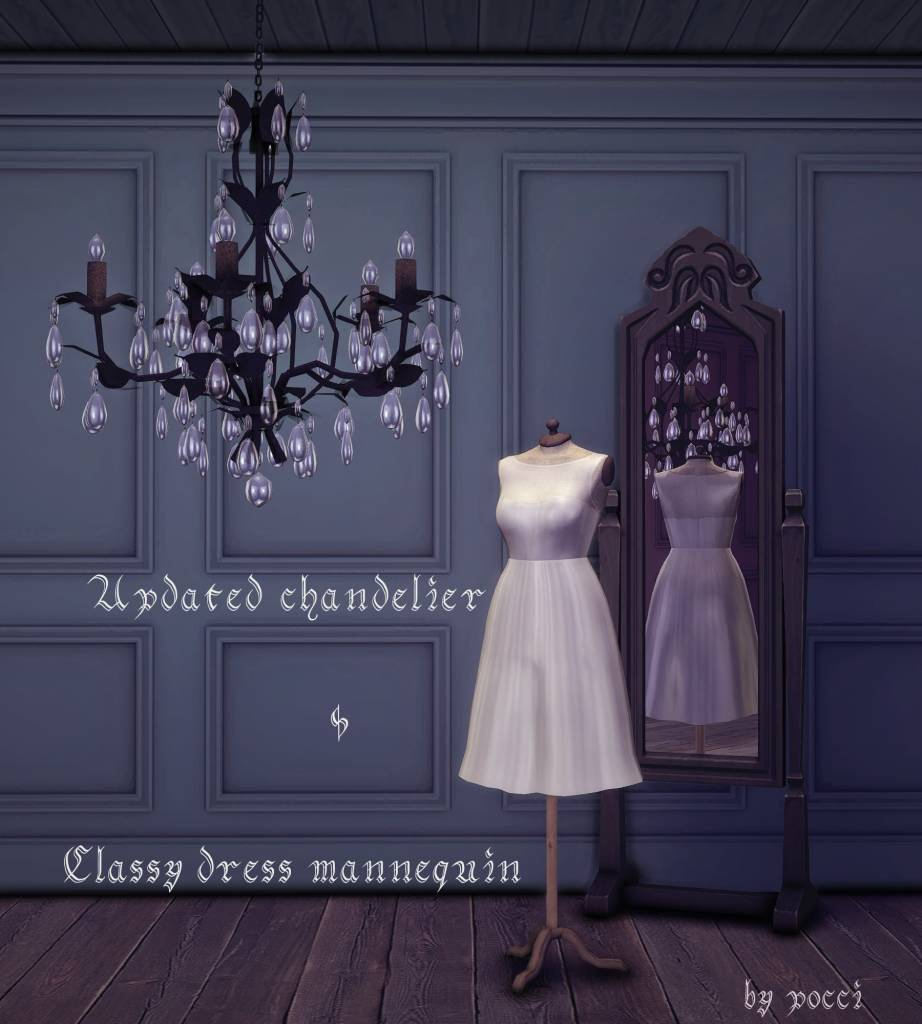 Люстра и манекен - Updated chandelier and classy dress mannequin