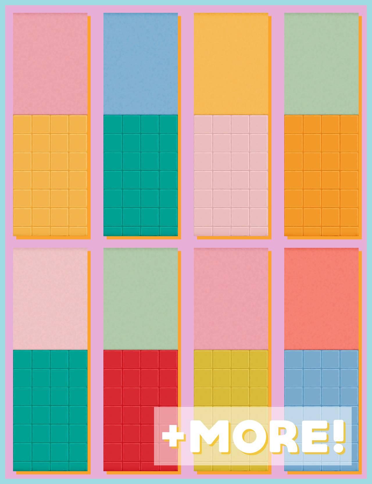 Настенная плитка и краска - colour POP!