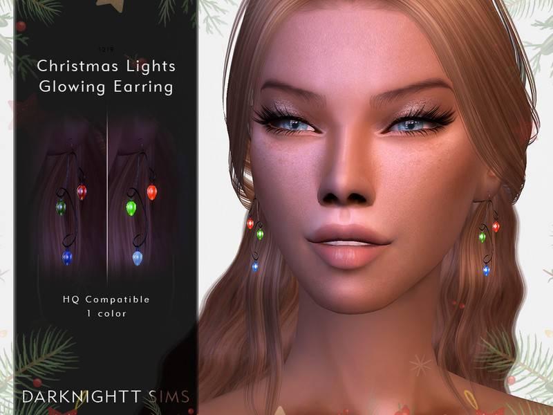 Серьги - Christmas Lights Glowing Earrings