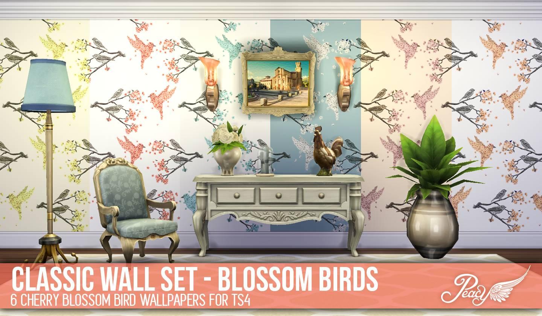 Обои - CHERRY BLOSSOM BIRDS