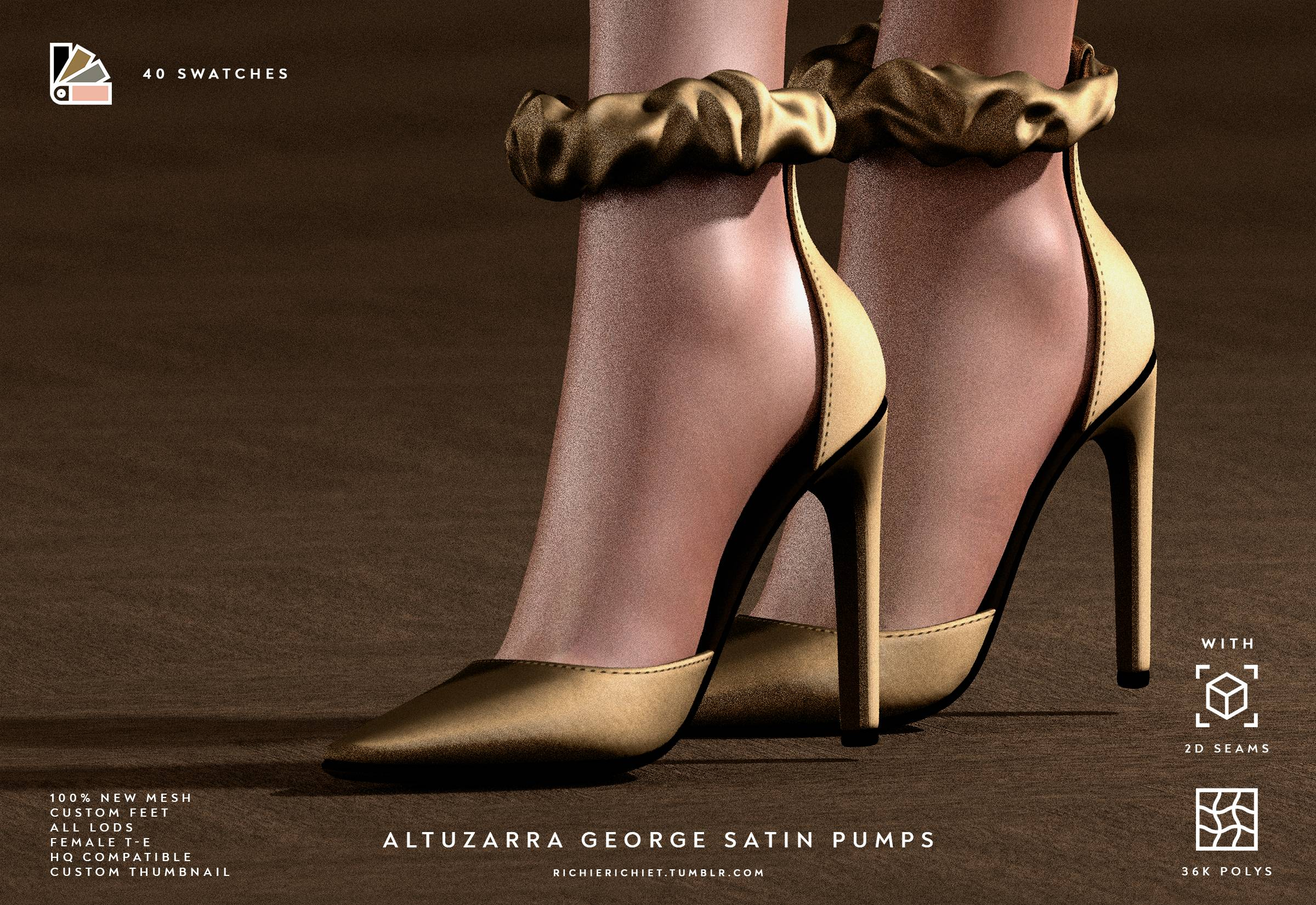 Туфли - Altuzarra George Satin Pumps