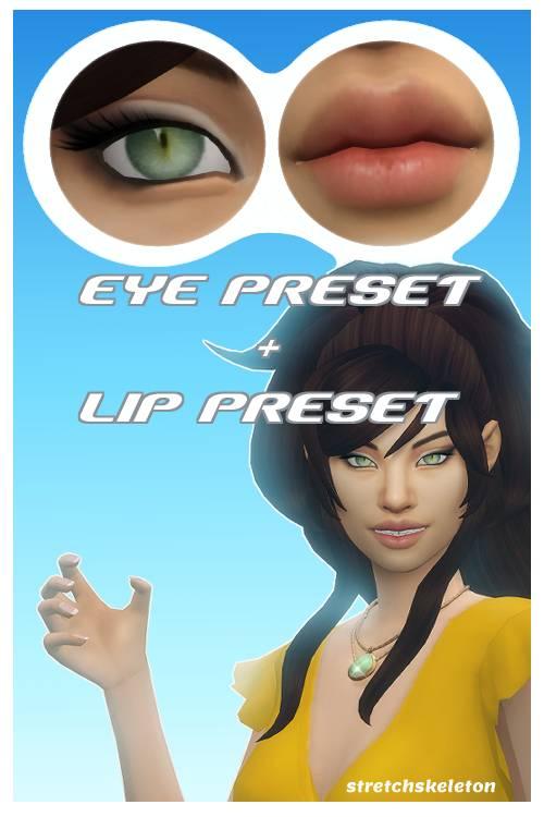 Пресет глаз и рта - Eye preset Lip preset