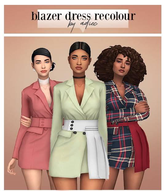 Платье - BLAZER DRESS BY RONA-SIMS RECOLOUR