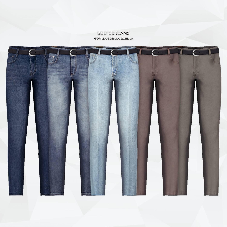 Джинсы - Belted Jeans