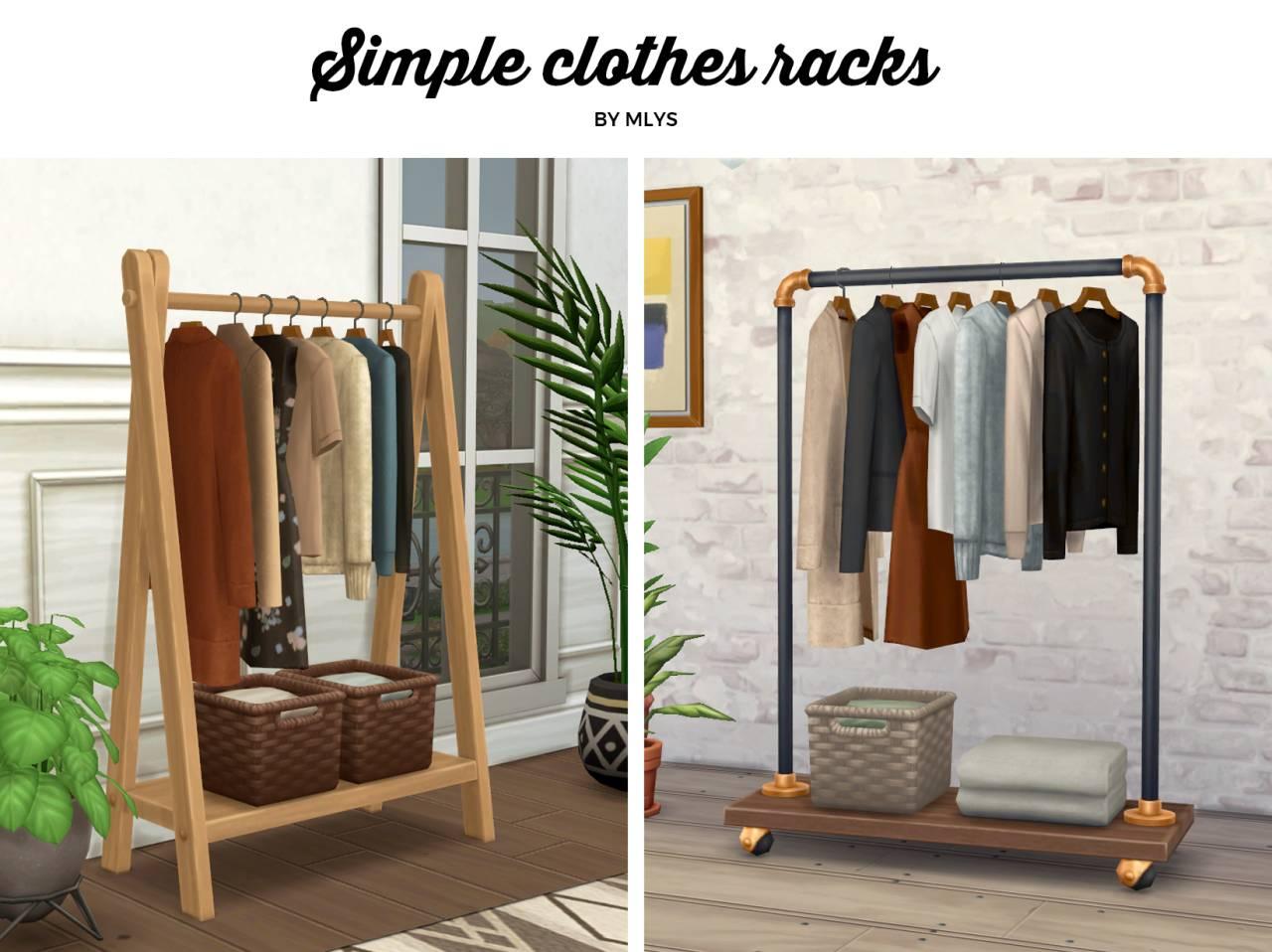 Напольные вешалки с одеждой - Simple clothes racks