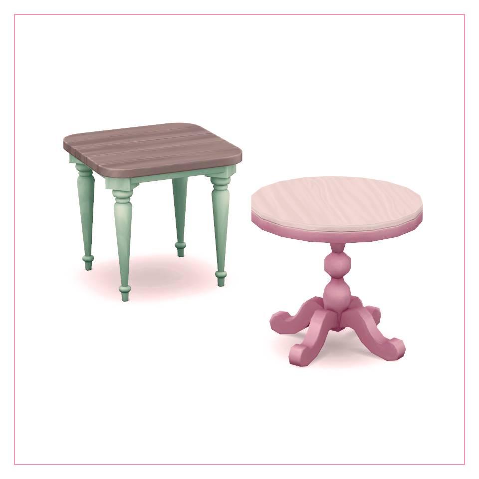 Столы - square and round