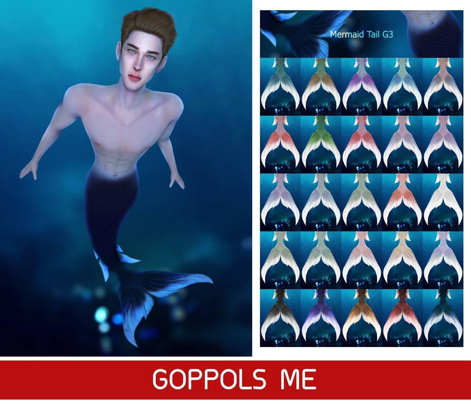 Хвост русалки - Mermaid Tail G3