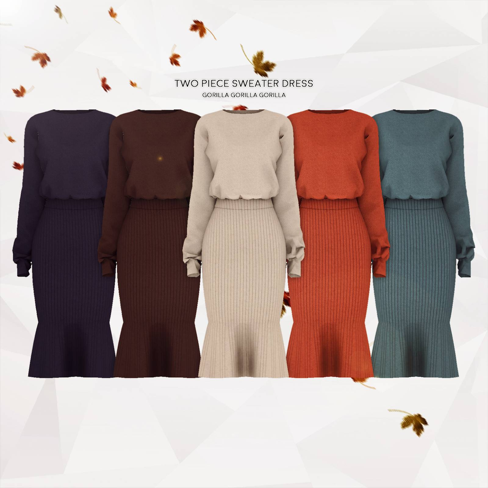 Свитер и юбка - Two Piece Sweater Dress