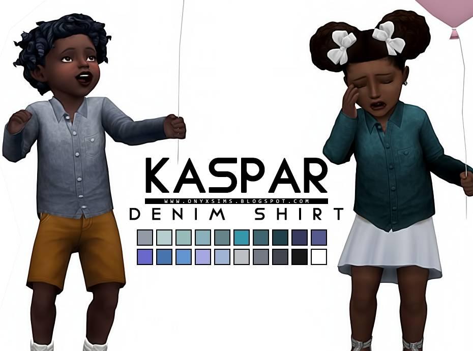 Рубашка - KASPAR DENIM TOP