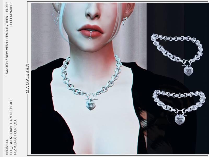 Цепь с подвеской - Chain heart necklace