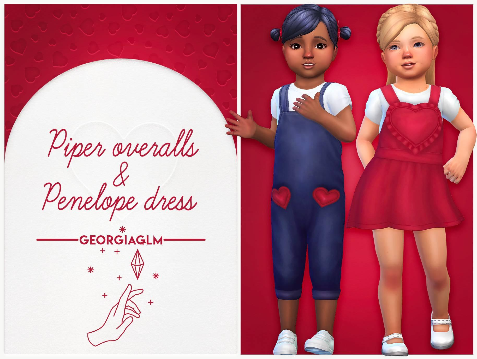 Набор одежды для тоддлеров - Piper overalls & Penelope dress