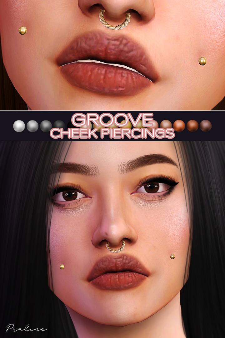 Пирсинг щек - GROOVE Cheek Piercings