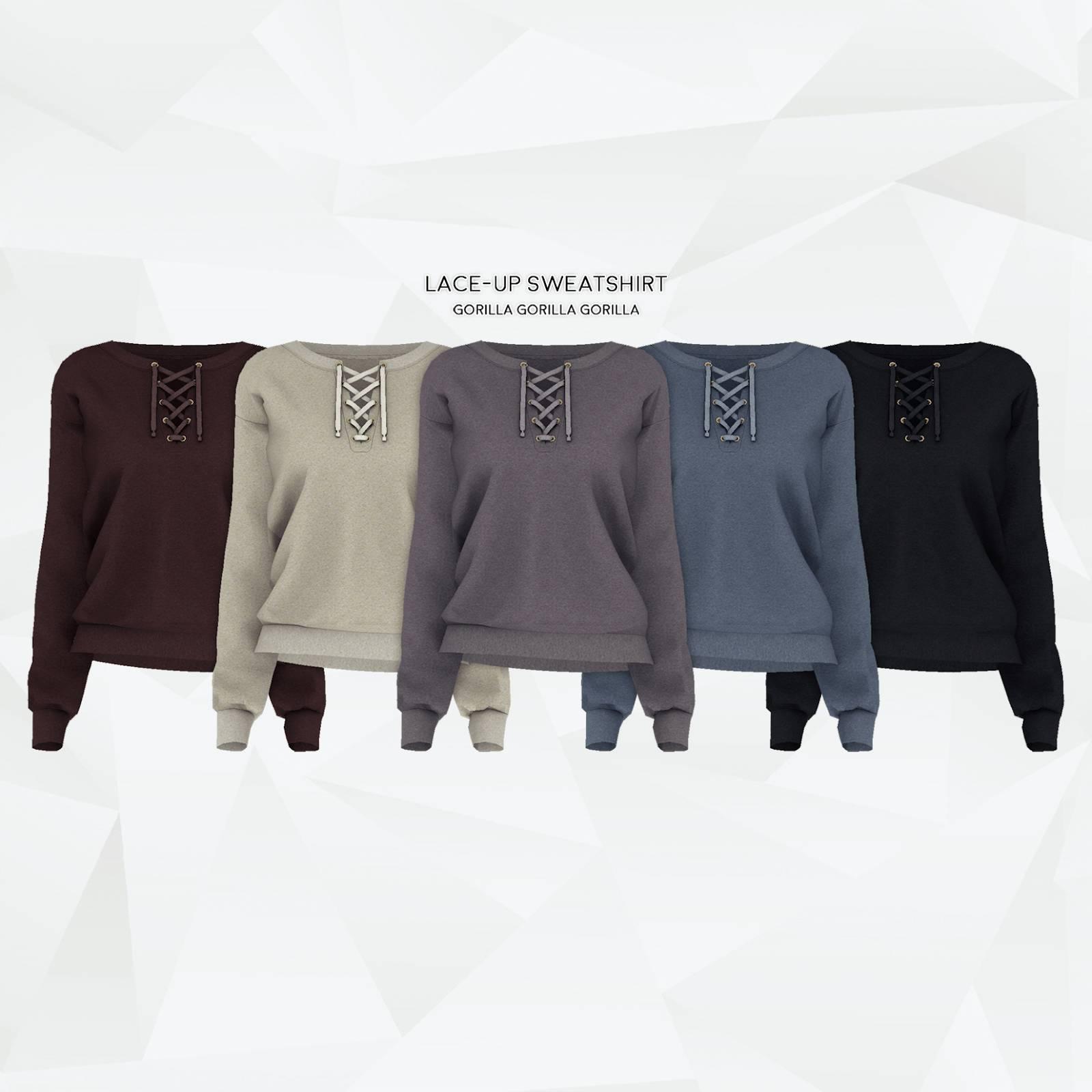 Женский свитшот - Lace-Up Sweatshirt