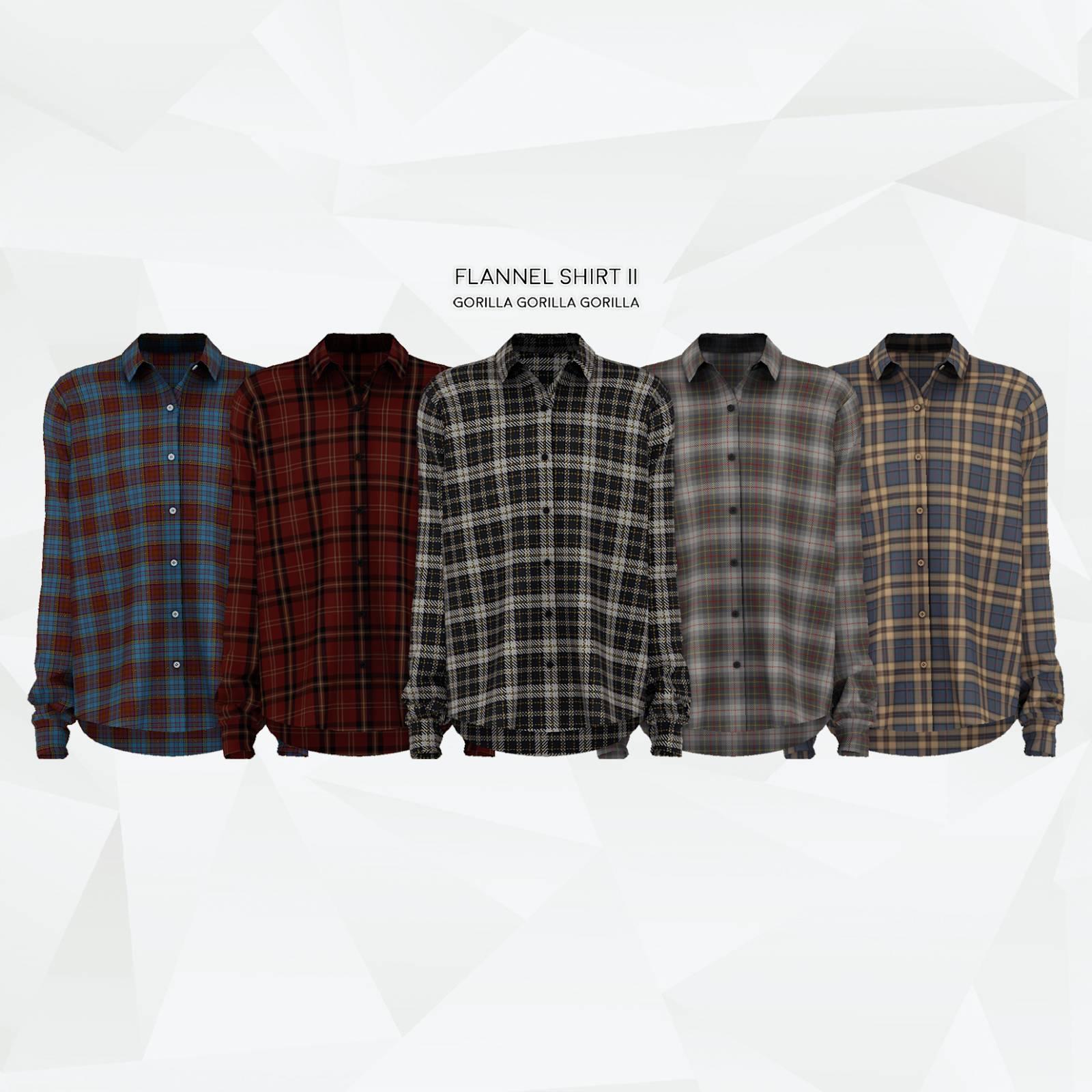 Мужская рубашка - Flannel Shirt II