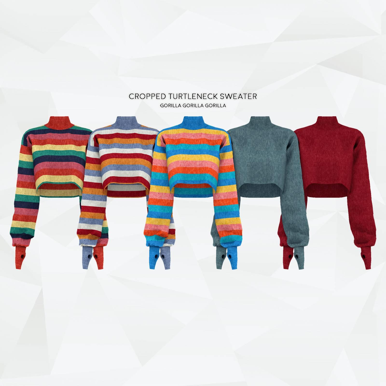 Свитер - Cropped Turtleneck Sweater 2