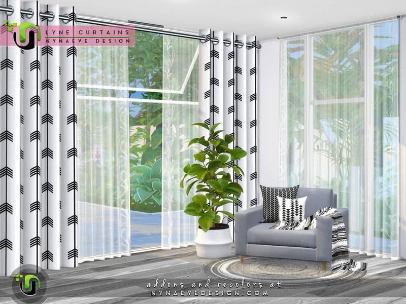 Набор штор, занавесок и жалюзи - Lyne Curtains I