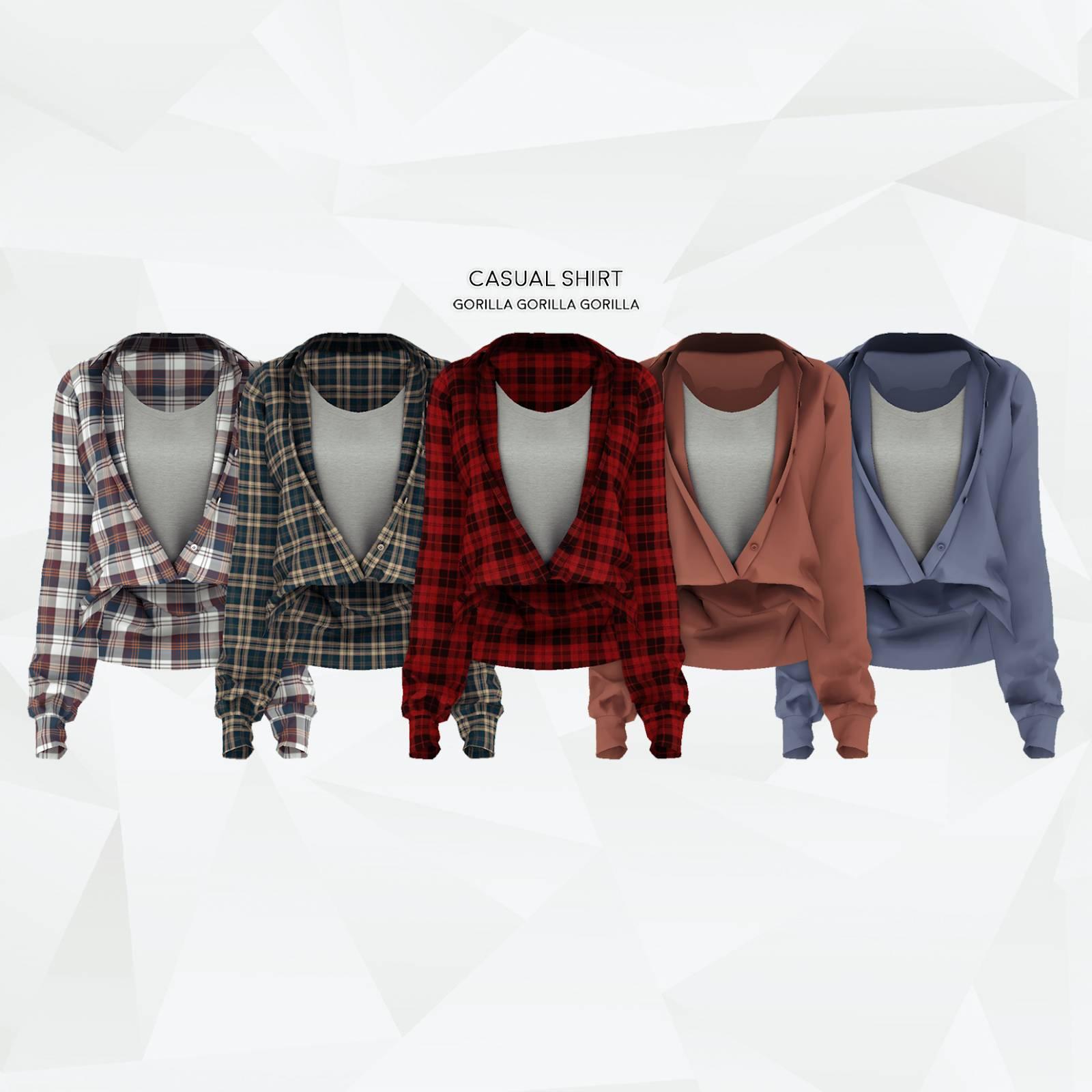 Рубашка и майка - Casual Shirt AF