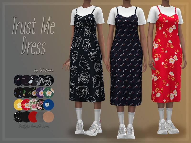 Платье и футболка - Trust Me Dress