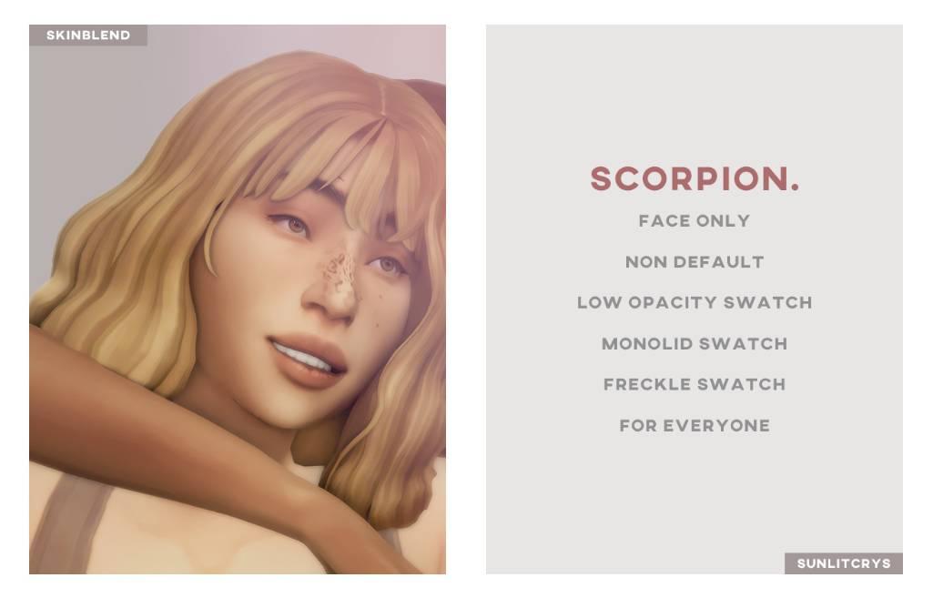 Скин лица - scorpion skinblend