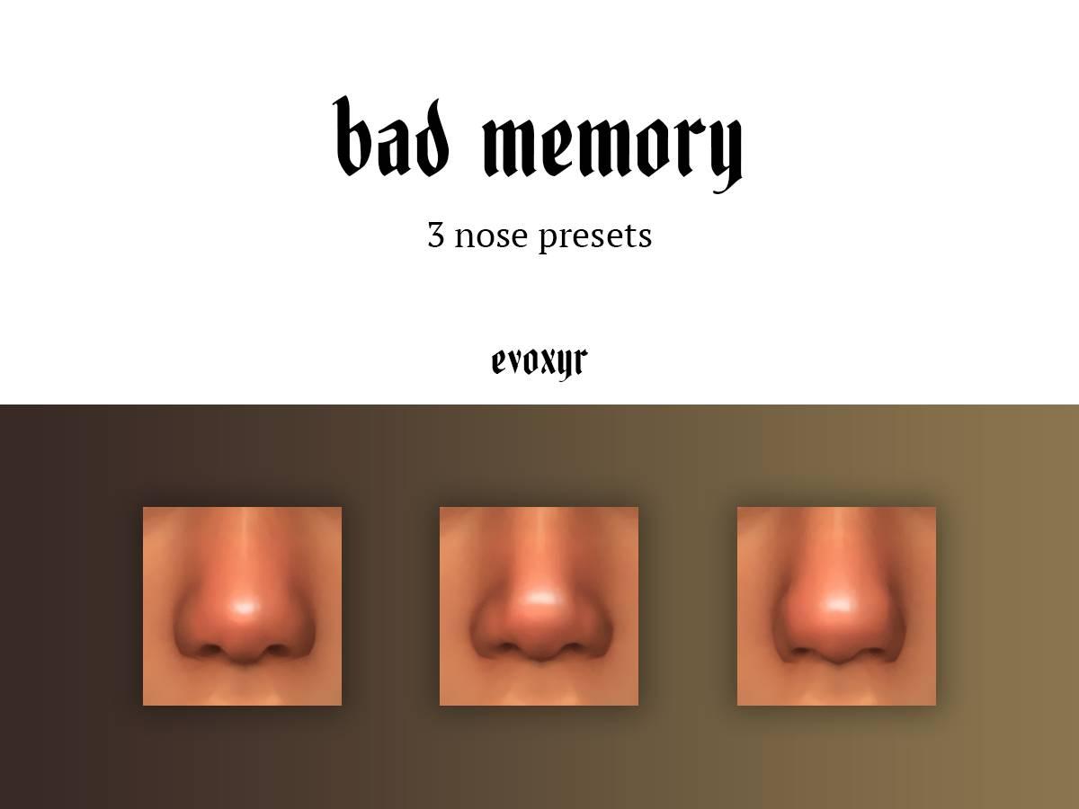 Пресеты носа - bad memory nose presets