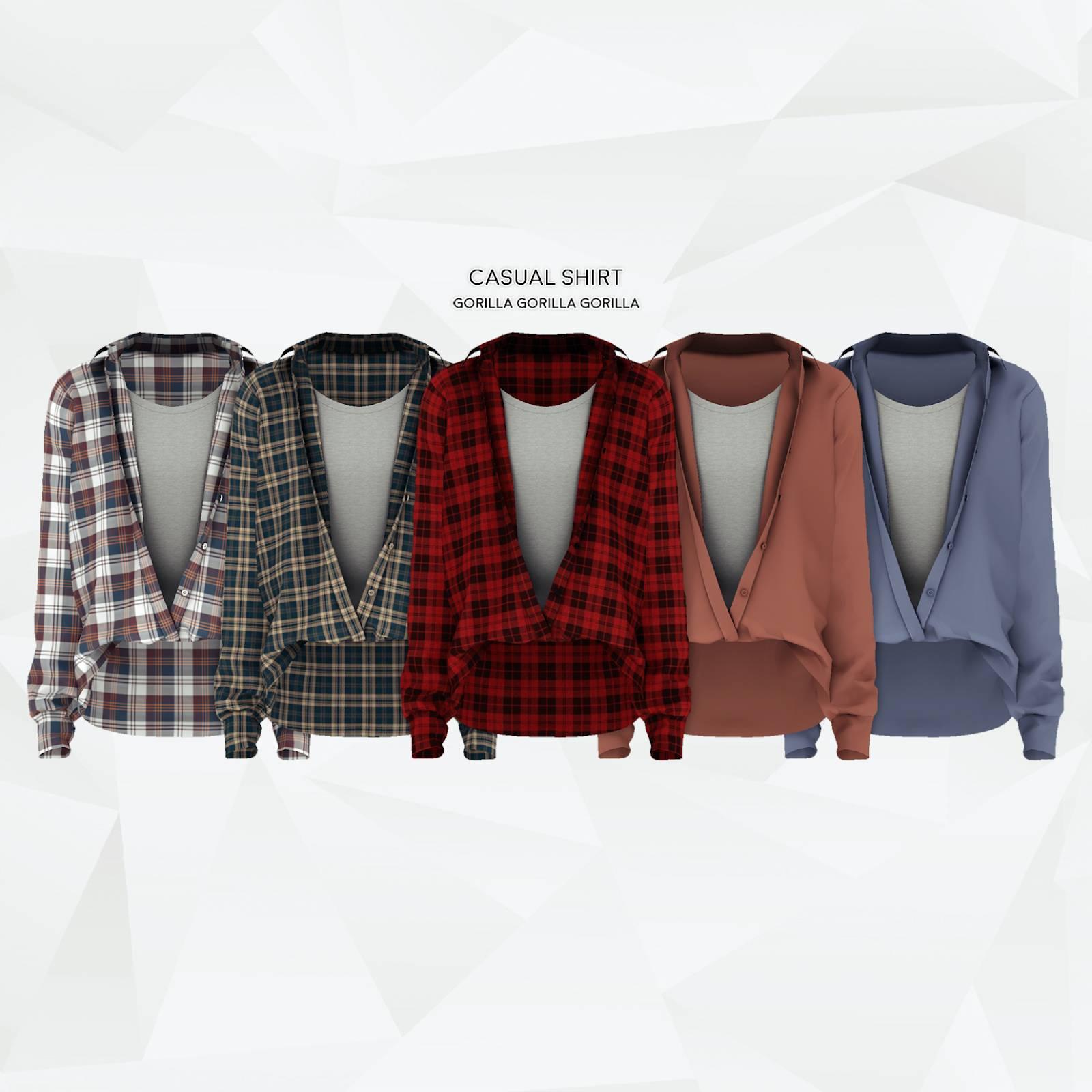 Рубашка и майка - Casual Shirt AM