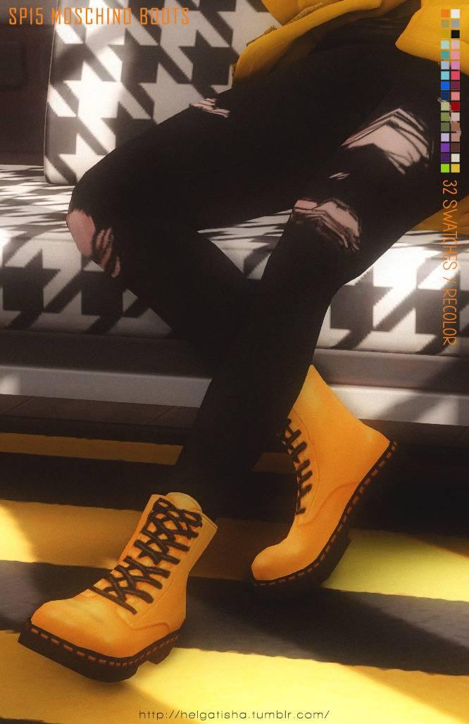 Ботинки - Recolor SP15 Moschino Boots