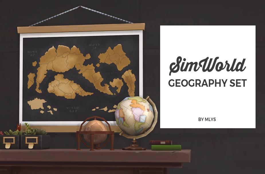 Карта и глобус - Geography set