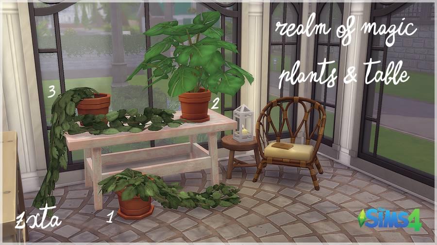 Растения и стол - RoM Plants And Table