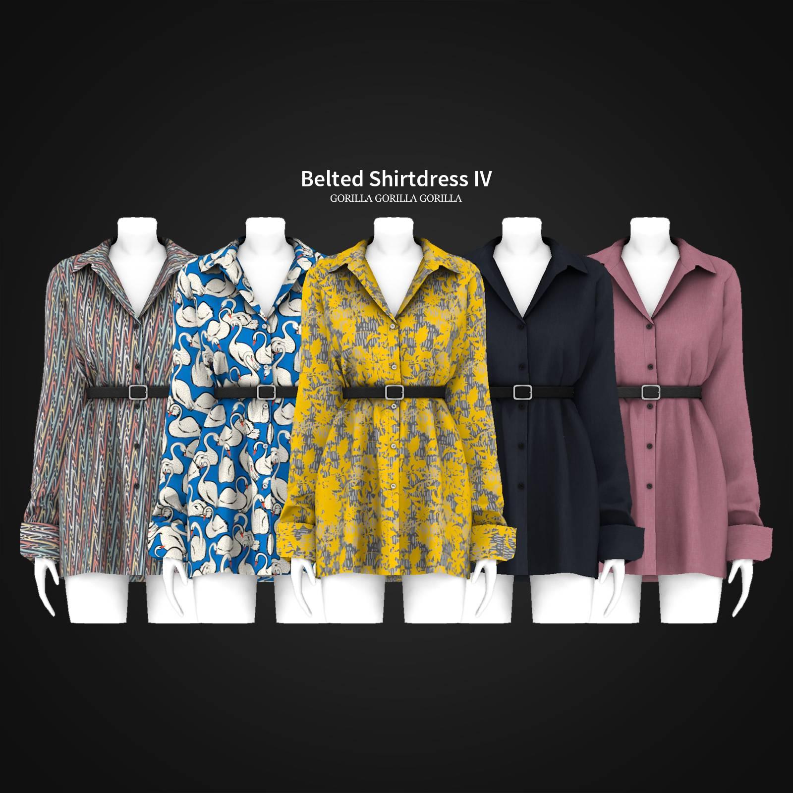 Платье - Belted Shirtdress IV