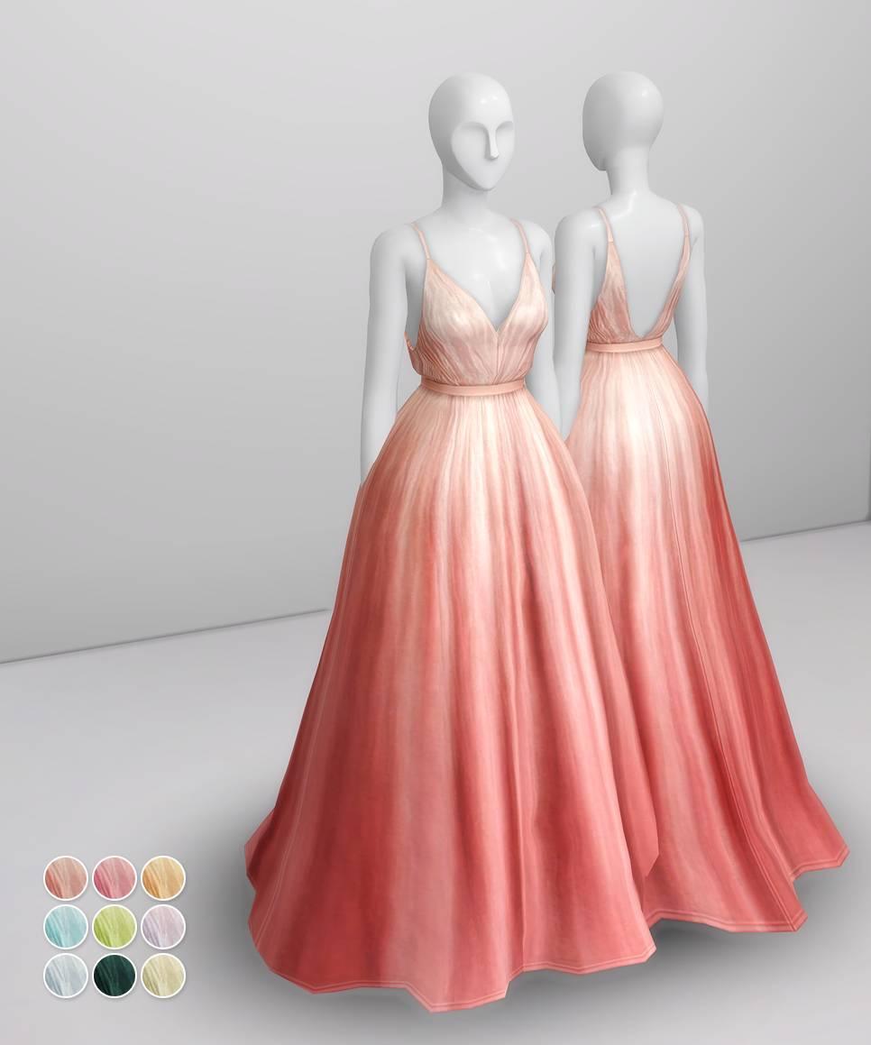 Платье - Peach Silk Gown