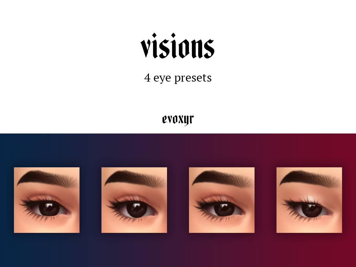 Пресеты глаз - visions eye presets
